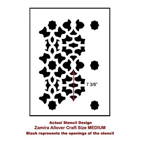 $22.95 Medium Cutting Edge Stencils - Zamira Craft Stencil