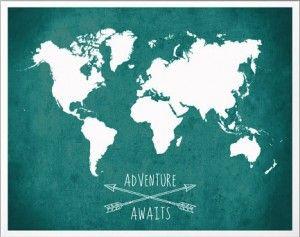 Plakat, poster, grafika, ilustracja, reprodukcja, plakat dekoracyjny, plakat vintage, mapa świata, plakat mapy świata, plakaty, grafiki