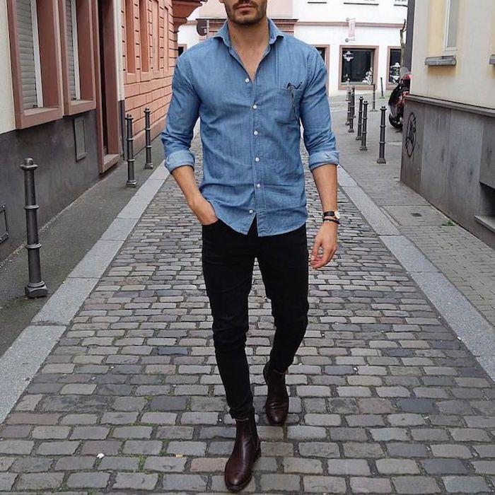 b31c7be3cedfd Comment porter une chemise en jean   – Comme ça !