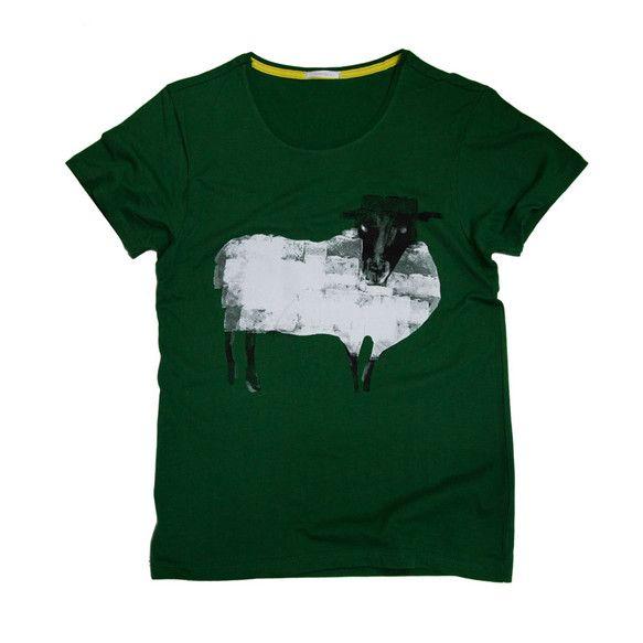 S~Lサイズカラー:グリーンコットン100%TcollectorのTシャツ。柔らかくて着心地の良いボディー。ふわふわな羊のTシャツです。|ハンドメイド、手作り、手仕事品の通販・販売・購入ならCreema。