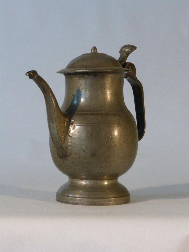 antique for sale oil cruet pewter with shell coffee pot teapot chocolate pot glassware liquid. Black Bedroom Furniture Sets. Home Design Ideas