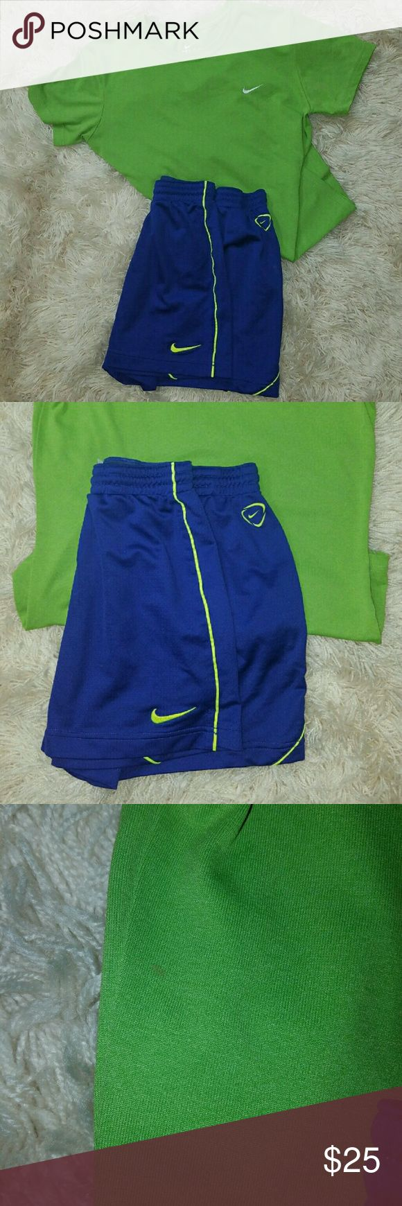 Womens Nike Athletic Bundle Tshirt / Shorts SMALL Nike tee is almost new condition has small stain that is not very noticeable (see last pic). Shorts are EUC. Nike Shorts