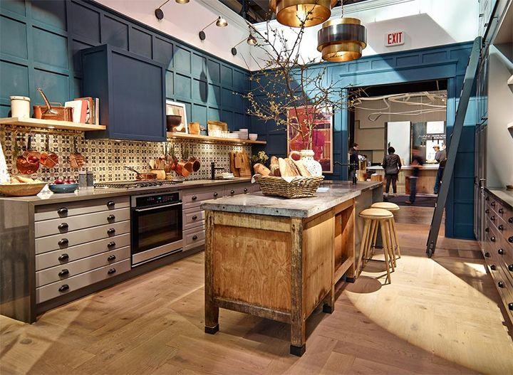 IKEA Sektion kitchen. Design: @SarahHartill for @house&home #InteriorDesignShow2015 Toronto @ikeacanada #FarrowandBall #HagueBlue