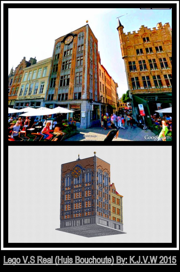 https://flic.kr/p/yuaRdv | Lego V.S Real (Huis Bouchoute) | Photo above is from Google Earth/Streetview