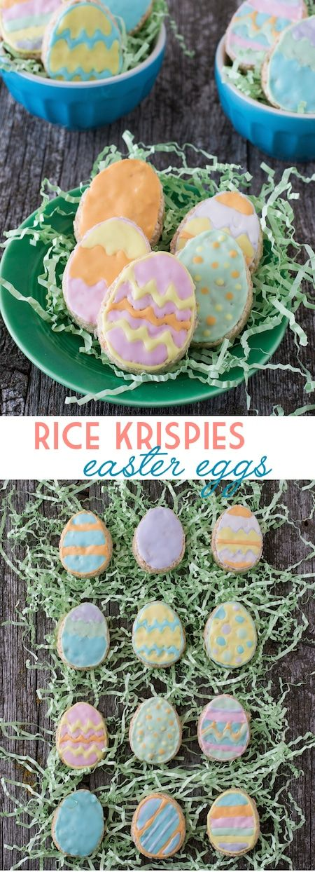 Rice Krispies Easter Eggs - use royal icing to make cute rice krispie easter eggs!