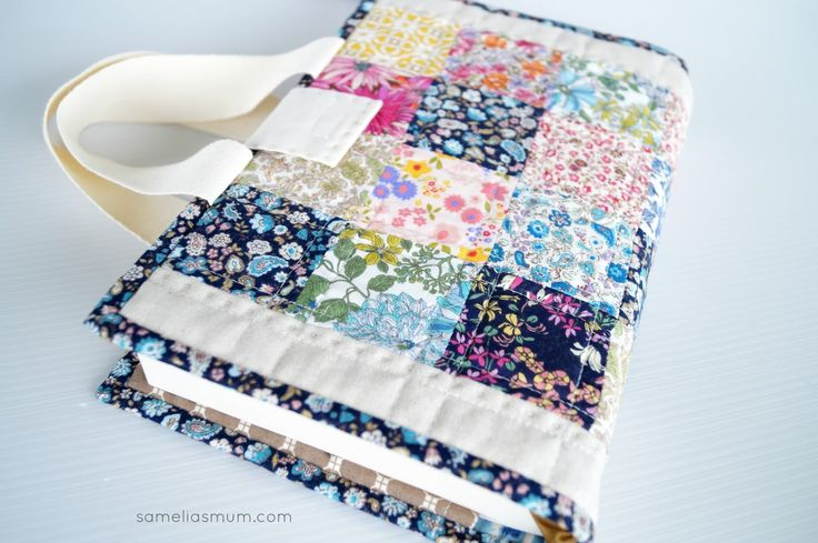 @ Samelia's Mum: Quilted Book Bag / Cover {Tutorial}