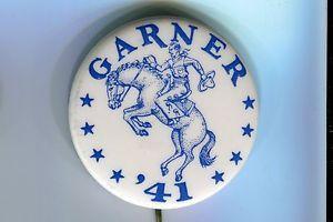 Garner 41. John Nance Garner for President 1940 Hopeful Button    eBay
