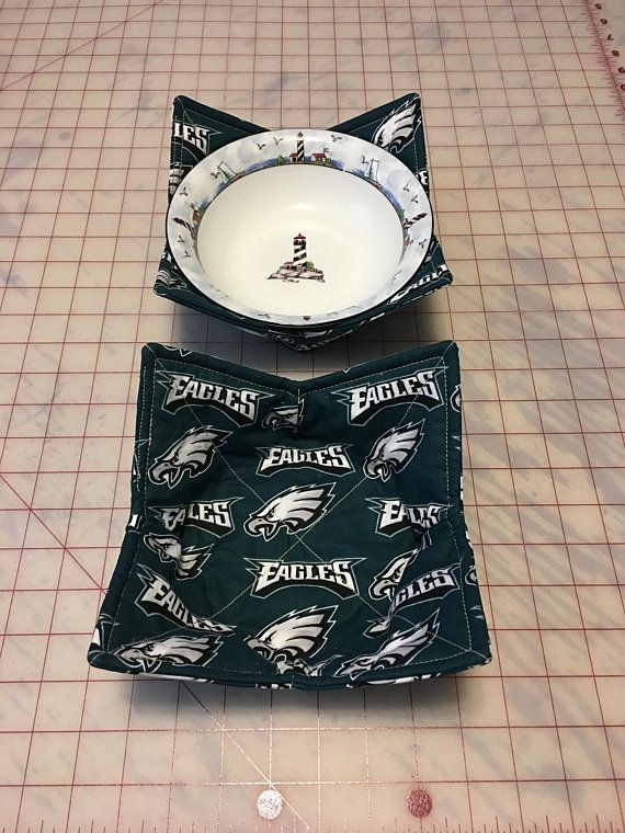 b7cad4cb MICROWAVE BOWL HOLDER/Cozy KFM125 (Philadelphia Eagles Fabric ...