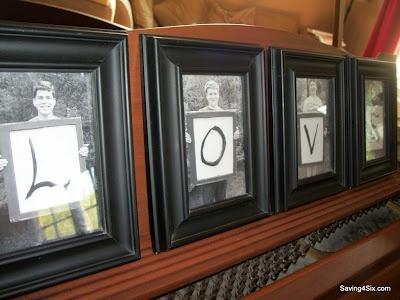 L-O-V-E Kids Photos.  Best Mother's Day Present Ever
