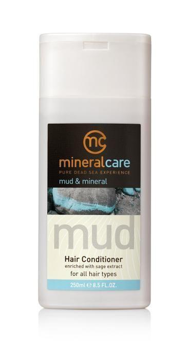 Een unieke conditioner verrijkt met Dode Zeemineralen, -modder en sage extract (salie-extract). De conditioner ondersteunt de reinigende en voedende werking van de shampoo. Het voedt het haar vanaf de wortel tot in de puntjes. Door dagelijkse invloeden raakt het haar beschadigd en verliest het haar natuurlijke bouwstenen. Mud & Mineral Hair Conditioner helpt het haar actief te herstellen en te beschermen tegen schadelijke factoren. Het resultaat? Soepel, zijdezacht, gezond en stralend haar.