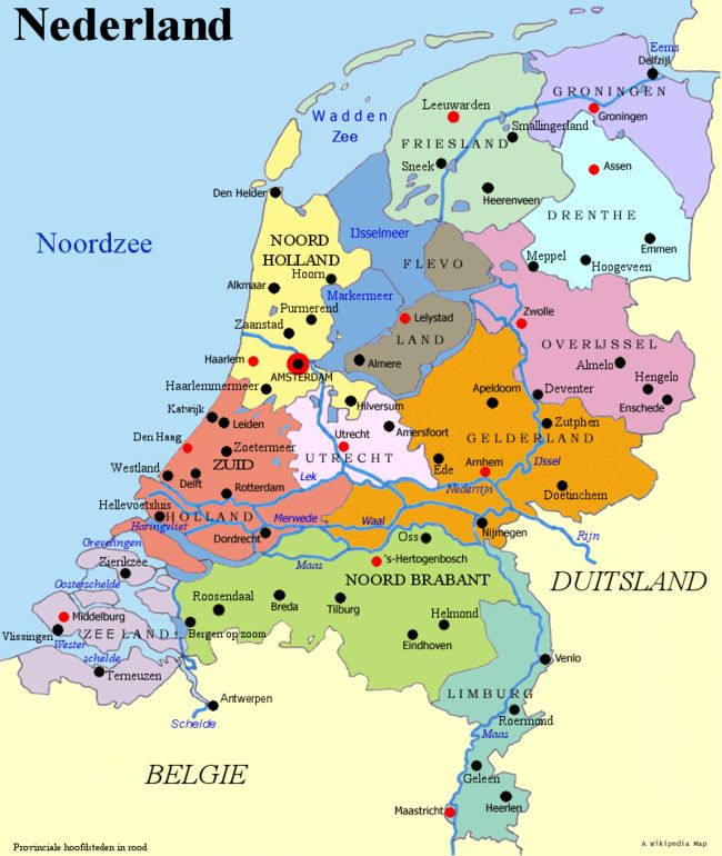 The Netherlands, country where I grew up.