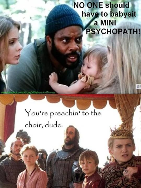 The Walking dead/ Game of Thrones funny memes