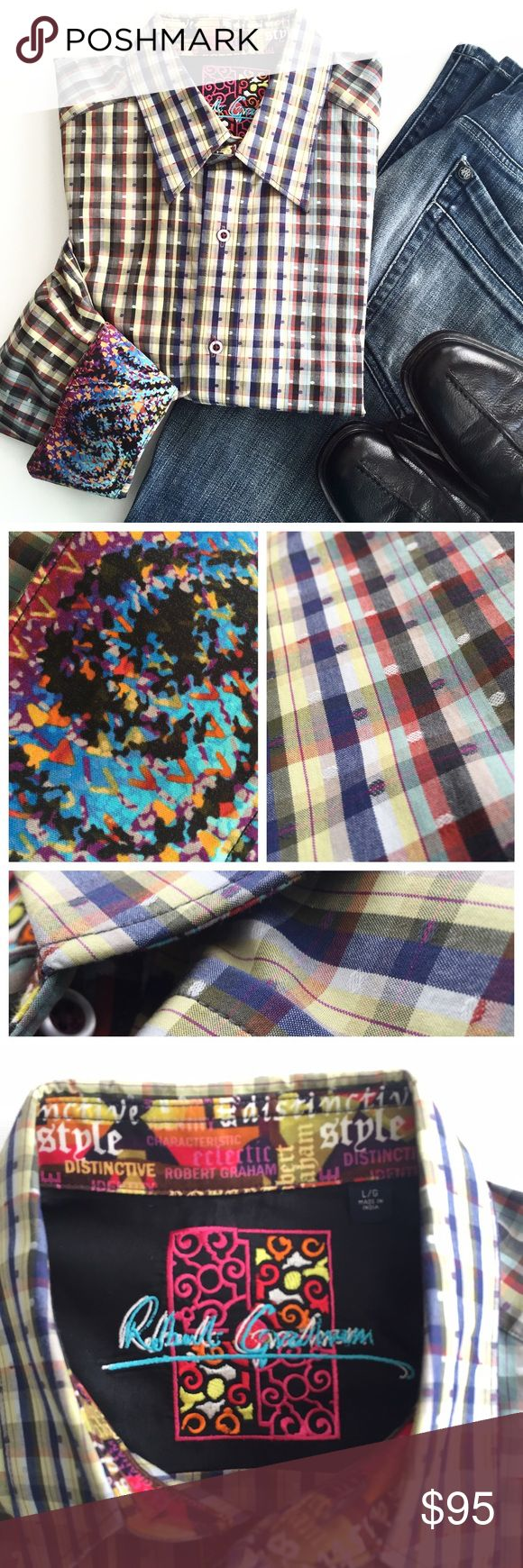 ROBERT GRAHAM Men's Long Sleeve Casual Button Down ROBERT GRAHAM Men's Long Sleeve Casual Button Down. No Defects/Excellent Used Condition ⚡️Super Fast Shipping 💯% Authentic 🚫 Trades 👍🏼 Accepting Offers Robert Graham Shirts Casual Button Down Shirts