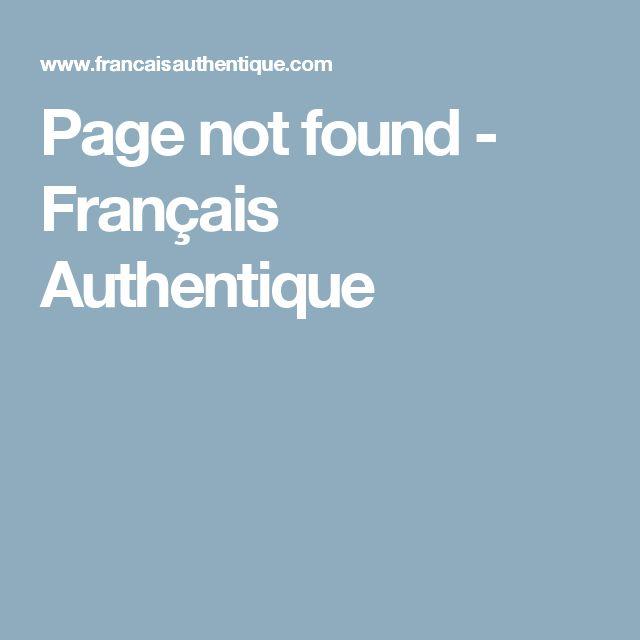 Page not found - Français Authentique