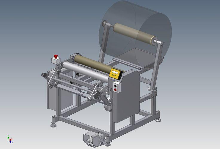 Stretch film rewinding machine - STEP / IGES,AutoCAD - 3D CAD model - GrabCAD