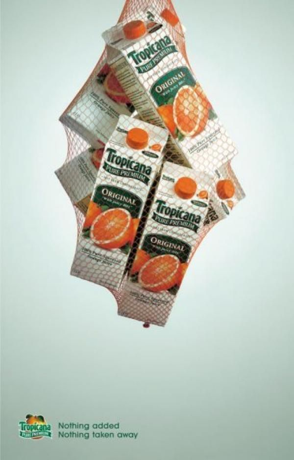 "Tropicana Juice: ""BAG"" Print Ad  by Bmp DDB"