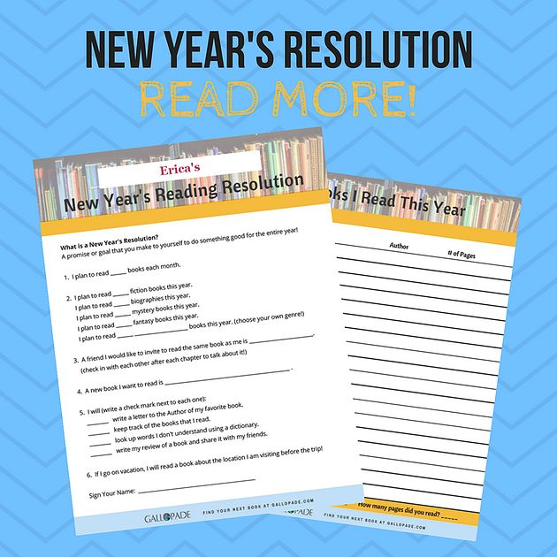 New Year's Resolution for Kids - Read More! #newyearsresolution #kidlit #kidresolution