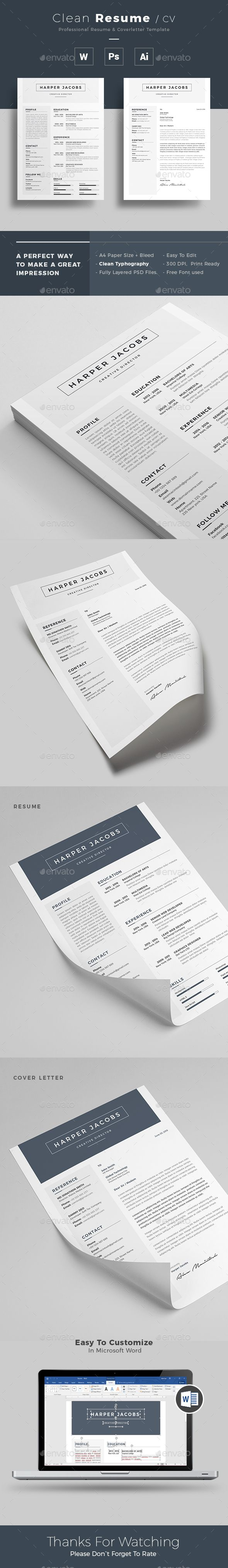 #Resume - Resumes #Stationery Download here: https://graphicriver.net/item/resume/19535842?ref=alena994