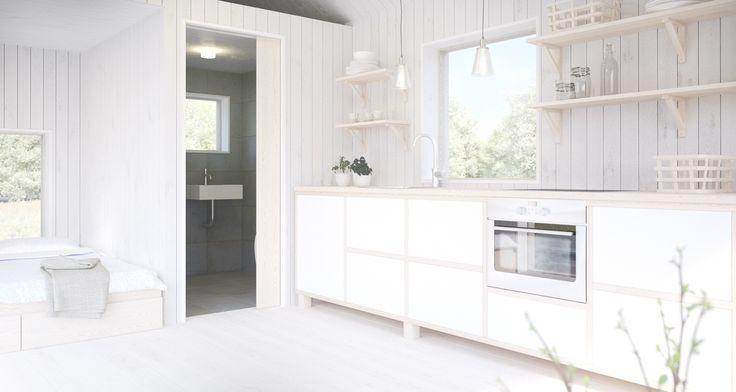 Hos Sommarnöjen väljer du själv hur du vill ha ditt Attefallshus. #sommarnojen #scandinavia #interior #kitchen