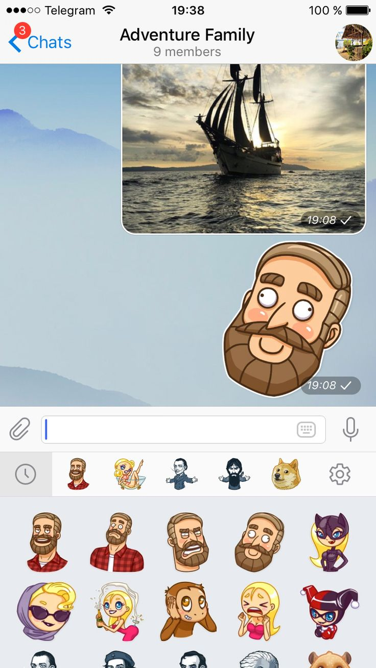 Telegram Messenger Reordering Stickers and Clearing Cache