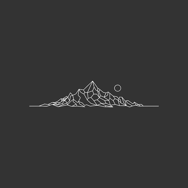 Commissioned geometric mountains for a tatt.  Designing little things all day, toss me a message.  #flashbynoel #illustration