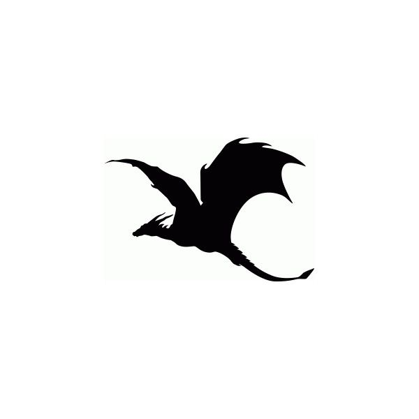 soaring dragon silhouette ❤ liked on Polyvore featuring home, home decor, vinyl window decals, vinyl car window decals, car window decals, vinyl window clings and dragon home decor