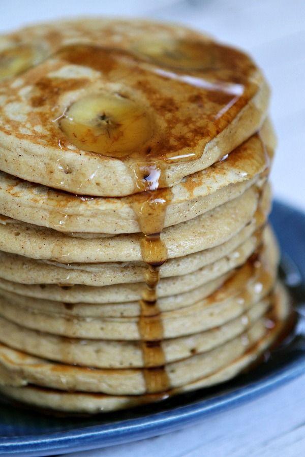 Banana Oatmeal Pancakes Recipe - RecipeGirl.com