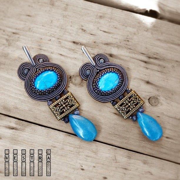 with blue  available, link in bio  have a nice day ☀......................................tym razem z niebieskim  są dostępne, kontakt na fb, link w bio  miłego dnia ☀ #earrings #soutache #sutasz #orecchini #bijoux #biżuteria #kolczyki #szczecin #lagertha #wrocław #poznań #hippie #boho #hippiestyle #bohostyle #fashion #handmade #rękodzieło #jaspis #jadeit #gamestones #ootd #pracowniavestra #ethnostyle #etno #instagram #bohemian