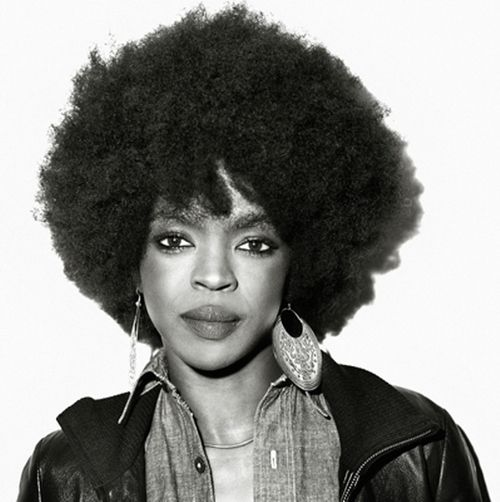 Lauryn Hill's afro is an almost iconic new look for the natural hair pioneer, who first came to fame with dreadlocks.