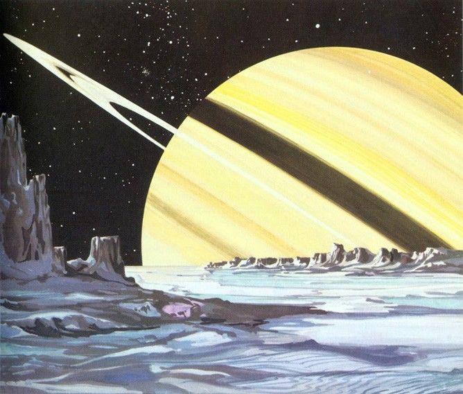 Rare Wonderful 1950s Space Art: Across The Universe