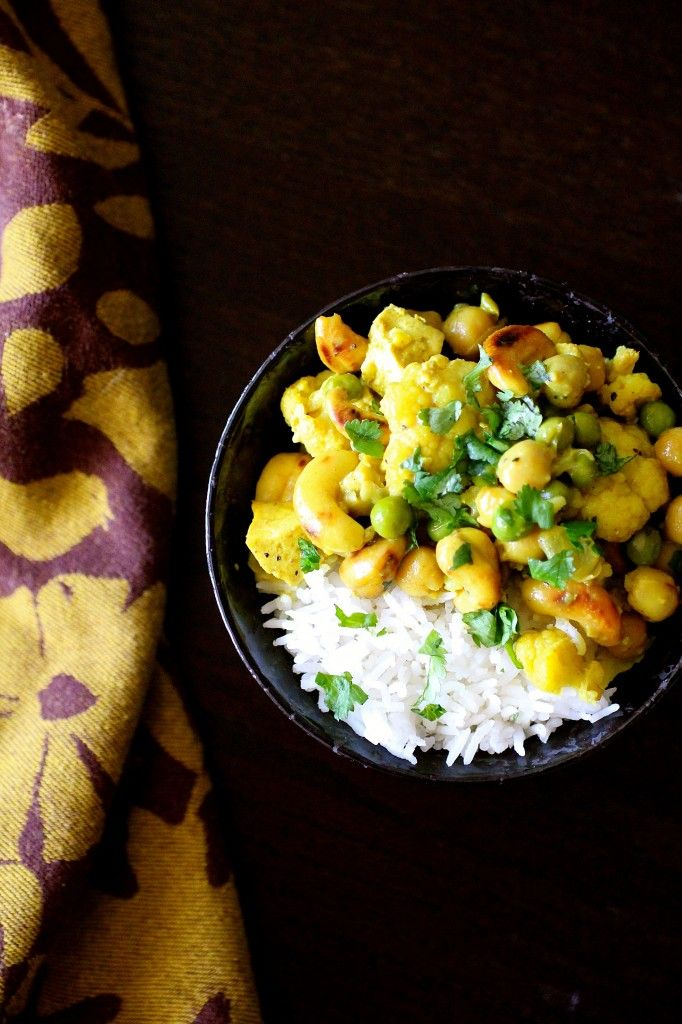 Chickpea Cashew Curry | The Curvy Carrot Cauliflower Chickpea Cashew ...