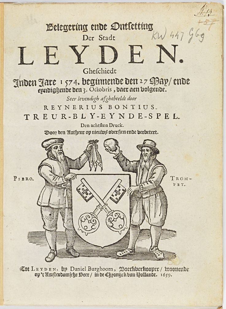 3 oktober 1574: Leidens Onzet. De Watergeuzen dringen de stad binnen en brengen de uitgehongerde bevolking haring en wit brood.
