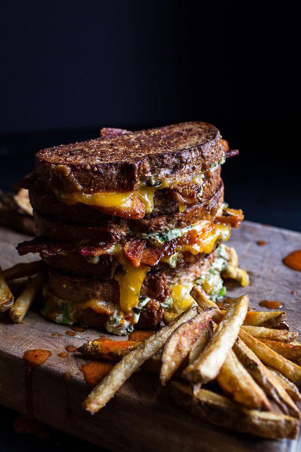 Big Popper Hot Buffalo Chicken and Bacon Grilled Cheese | halfbakedharvest.com @hbharvest