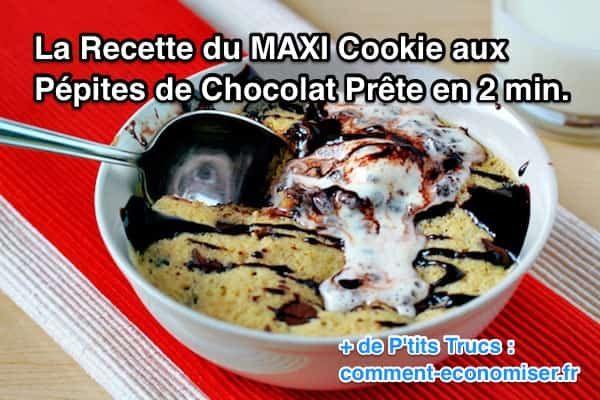 Non seulement il faut moins de 5 min pour faire ce gâteau aux pépites de chocolat, mais en plus il est vraiment délicieux. Et ne vous inquiétez pas, cette recette est plus que facile à faire !   Découvrez l'astuce ici : http://www.comment-economiser.fr/recette-du-maxi-cookie-aux-pepites-de-chocolat-prete-2-min.html?utm_content=buffer013f2&utm_medium=social&utm_source=pinterest.com&utm_campaign=buffer