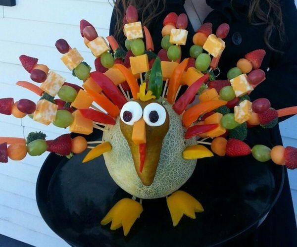 Thanksgiving Edible Arrangement, 20 Creative Edible Arrangment Ideas, http://hative.com/creative-edible-arrangment-ideas/,