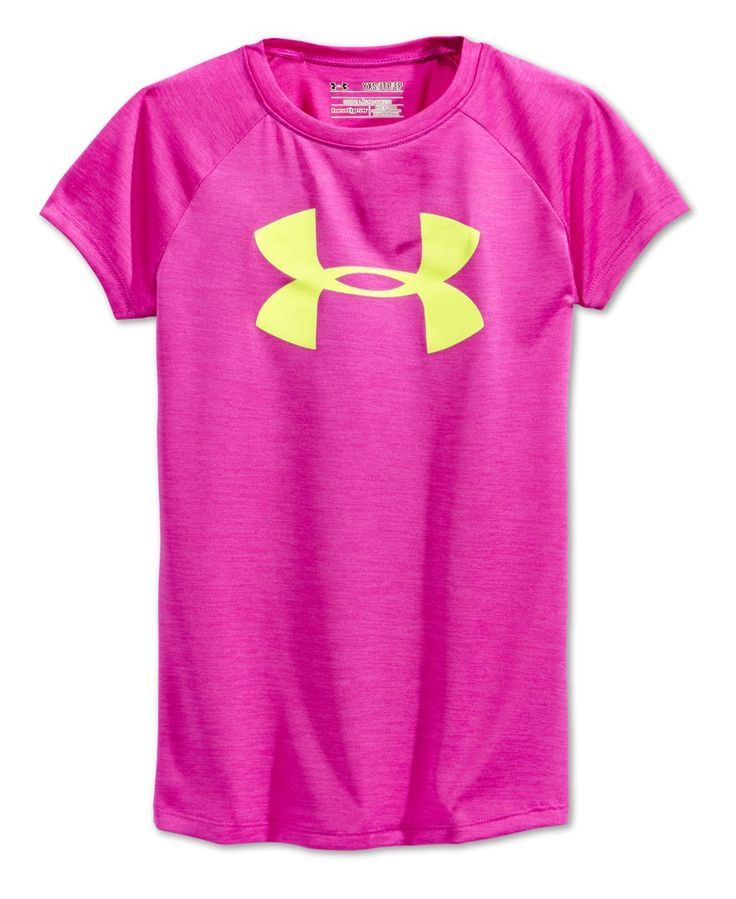 Under Armour Girls' Big-Logo Abstract-Print T-Shirt