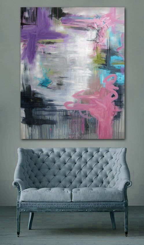 Abstract painting by Rikke Laursen Moderne abstrakt maleri