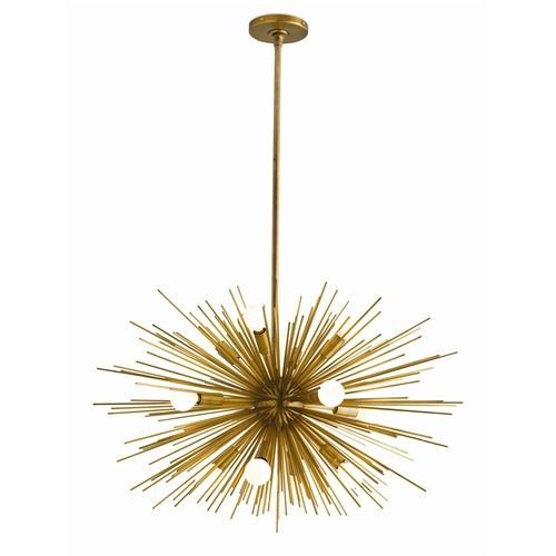 Arteriors Zanadoo Antique Brass Chandelier Available In Two Different Sizes