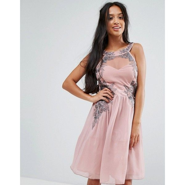 Little Mistress Petite Chiffon Skater Dress With Embellished Detail (410 CNY) ❤ liked on Polyvore featuring dresses, petite, pink, tall maxi dresses, maxi dress, pink dress, petite maxi dresses and petite dresses