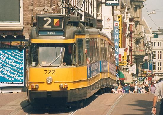 Old style Amsterdam tram (July 1995)