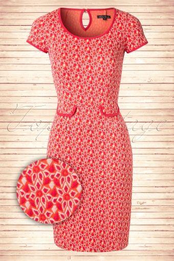 King Louie 60s Orange Tulip Dress 101 27 13815 20150211 0005W2
