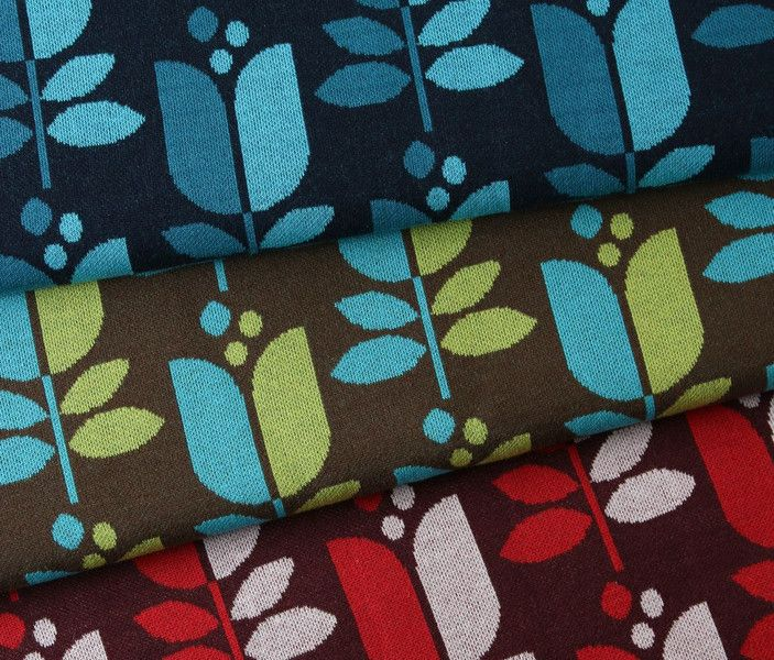 """Stoff grafische Muster - Hamburger Liebe BIO Jacquard Jersey """"Tulipina"""" - ein Designerstück von hoppilu bei DaWanda"""