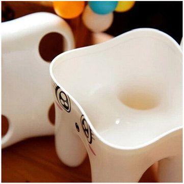 4 agujeros de soporte de diseño de cepillo de dientes de dibujos animados estante cara sonriente para cepillos de dientes en Banggood