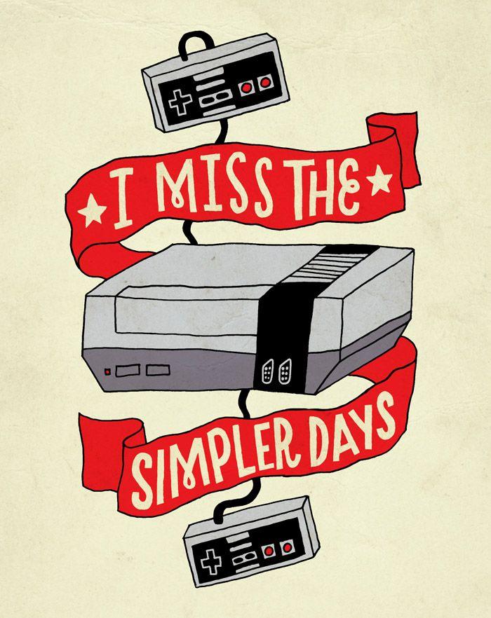Retro Typographic NES hommage