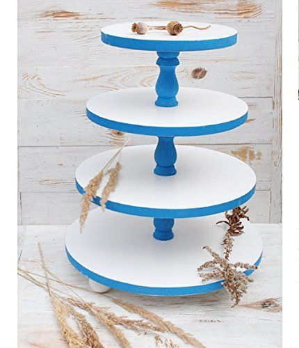 4 tiered cake standwhite blue 4 tiered cake ctand4 tiered wedding cupcake stand4 tiered white cake pedestal4 tiered wood blue cake stand