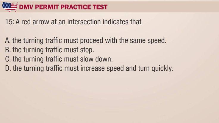 Driving theory test: Arizona DMV Permit Practice Test 2