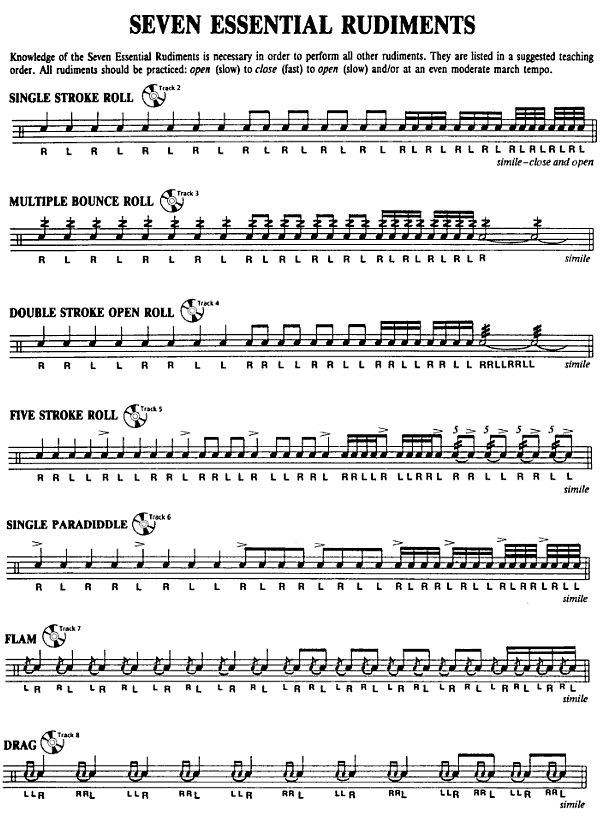 25 Best Ideas About Vic Firth Rudiments On Pinterest