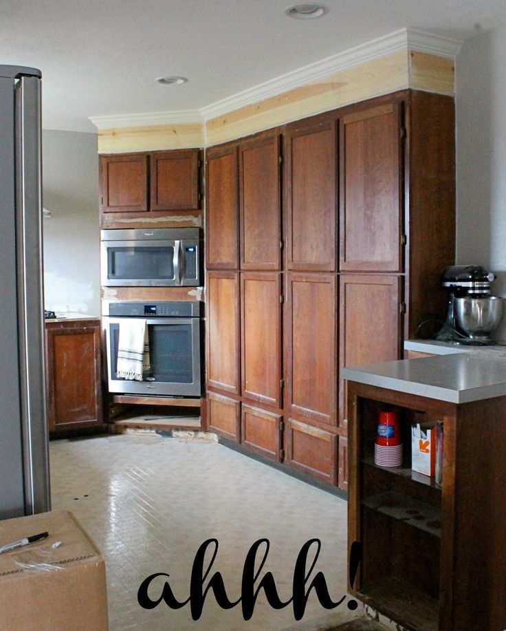 Plain Kitchen Cabinets: Wonderfully Made: Extending Kitchen Cabinets To The
