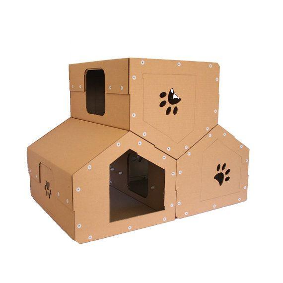 Cardboard Cat Penthouse, Modern Cat Tree,Cat Furniture, Cat Toy, Cat Cave, Pet House, Cardboard Furniture,Cat Tower,Kitty Tree