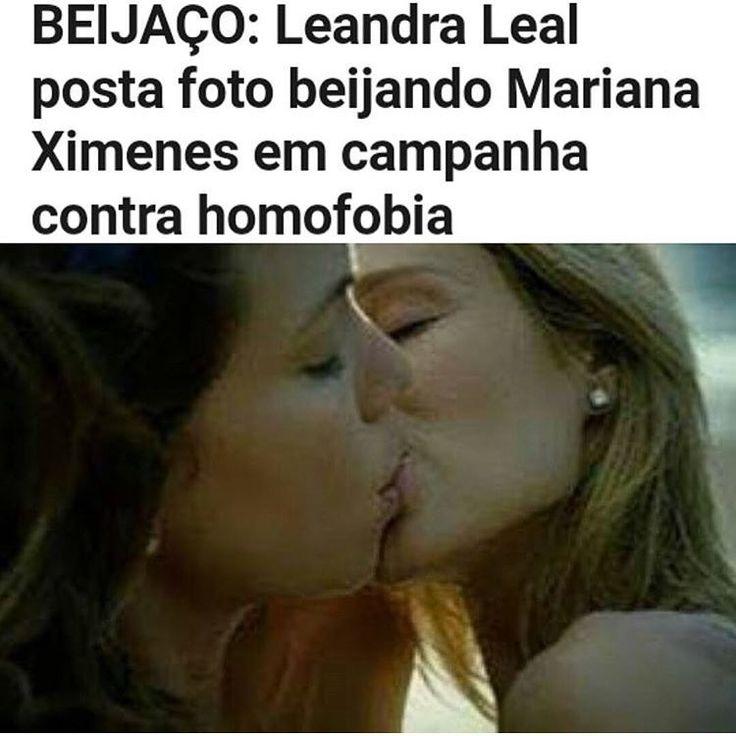 Leandra Leal postou na sua conta particular a foto dela beijando na boca a atriz @marianaximenes em uma gravação, apelo contra a homofobia que tanto mata pessoas inoscentes no nosso país. #preconceito #homofobia #lesbicas #amor #relacaohomossexual #relacaohomoafetiva #trans #gay #gays #men #woman #girls #girl #celebridades #celebridade #celebrity #famous #famosos #atrizbrasileira http://tipsrazzi.com/ipost/1511406391070718097/?code=BT5mBrbBniR